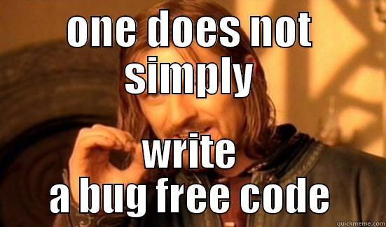 No bug-free code
