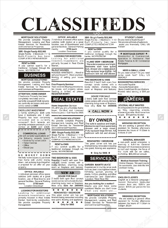 Classified-Newspaper-Ad-Template-
